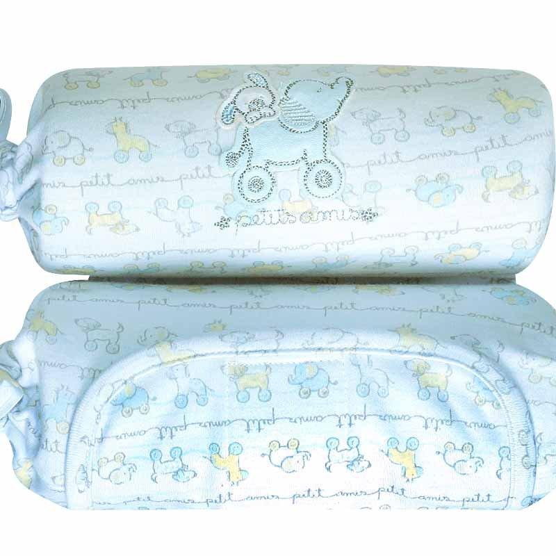 Segura Bebê em malha Suedine Brinquedos Elefantinho Cor Azul