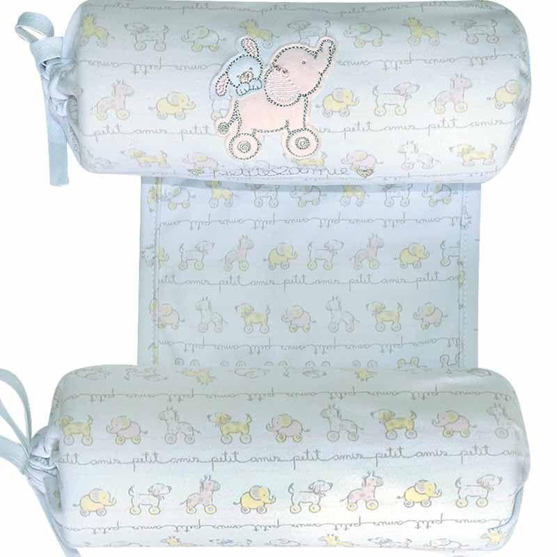 Segura nenê em malha suedine Brinquedos Elefantinha Classic for Baby Cor Branca