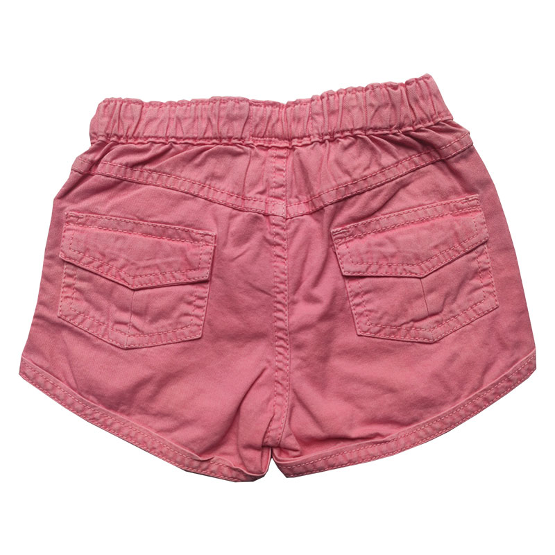 Shorts Jeans Infantil Feminino Toffee Cor Rosa - Tamanho 03