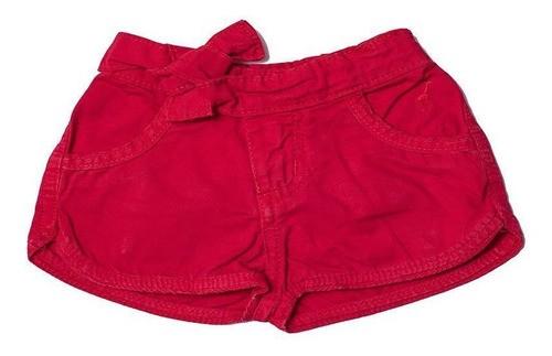 Shorts Jeans Infantil Feminino Toffee Cor Vermelho