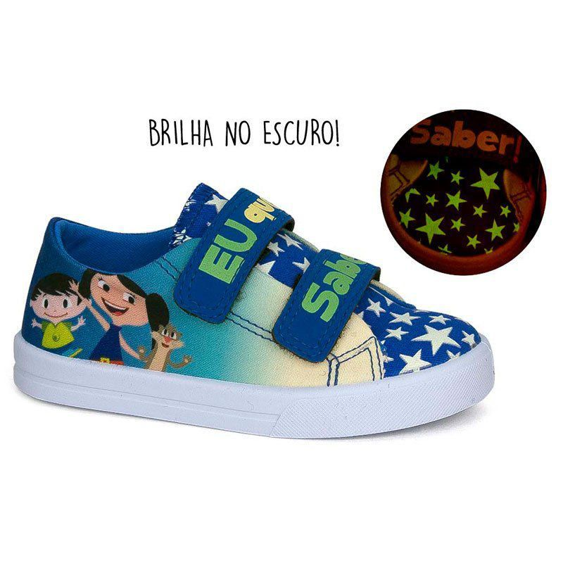 Tênis Infantil Baby Soft Luna Sugar Shoes Cor Azul