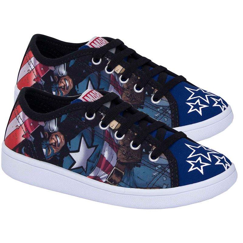 Tênis Infantil Capitão América Vingadores Sugar Shoes