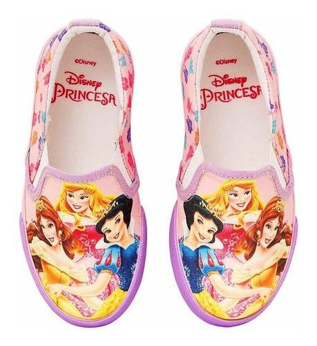 Tênis Infantil Iate Feminino Princesas Disney Sugar Shoes