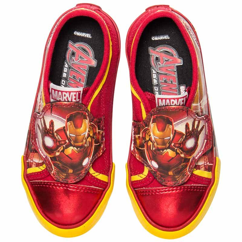Tênis Infantil Masculino Homem de Ferro Marvel