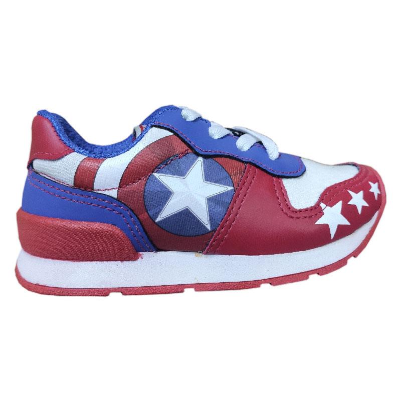 Tênis Infantil Masculino Vingadores Capitão América - N 28