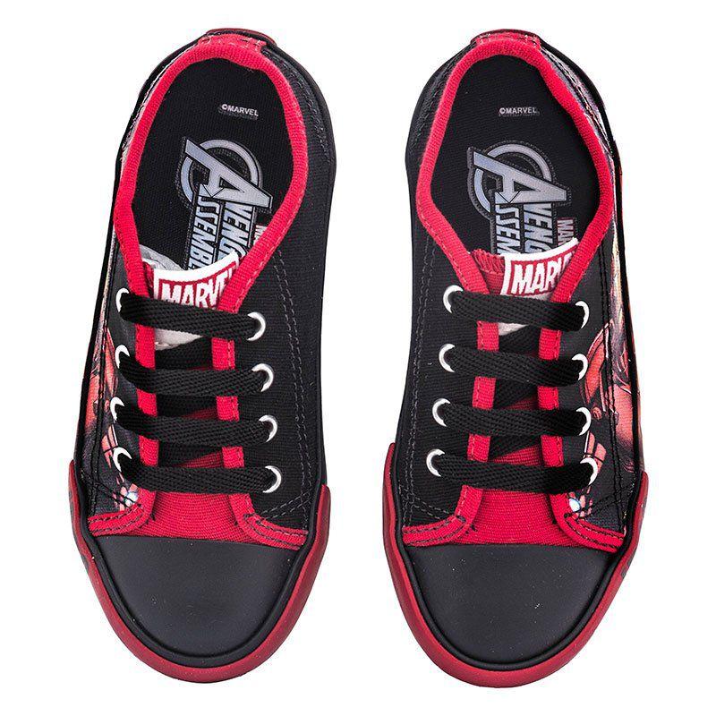 Tênis Infantil Menino Homem de Ferro Sugar Shoes Tamanho N°24