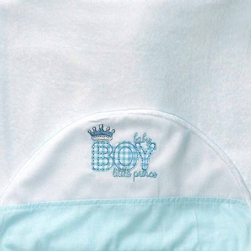 Toalha De Banho Com Capuz Atoalhado Its A Boy Cor Azul
