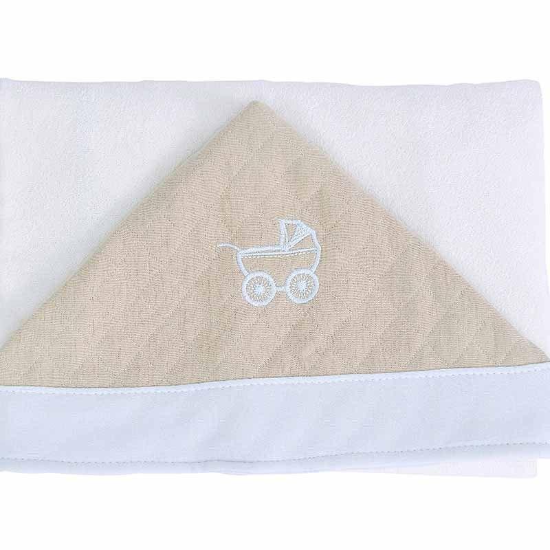 Toalha de Banho Infantil com Capuz Duque Hug Baby Cor Azul
