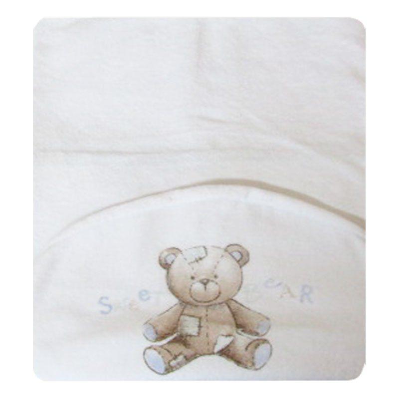 Toalha de Banho Infantil Maxi Urso Azul Classic for Baby Cor Branca
