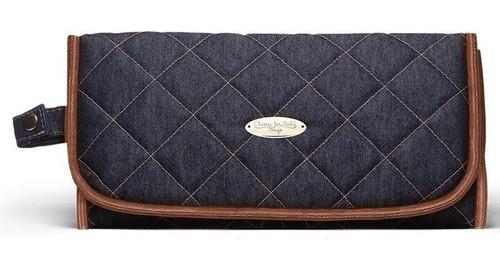 Trocador Portátil Jeans Mocca Classic For Bags Azul Marinho