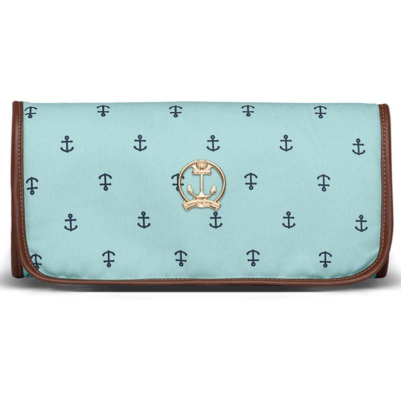 Trocador Portátil Navy Sarja Classic For Bags Cor Azul Bebe