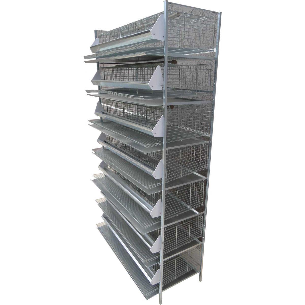 Bateria de 7 gaiolas para codornas