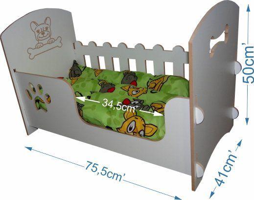 Berço cama de luxo para cães de porte médio