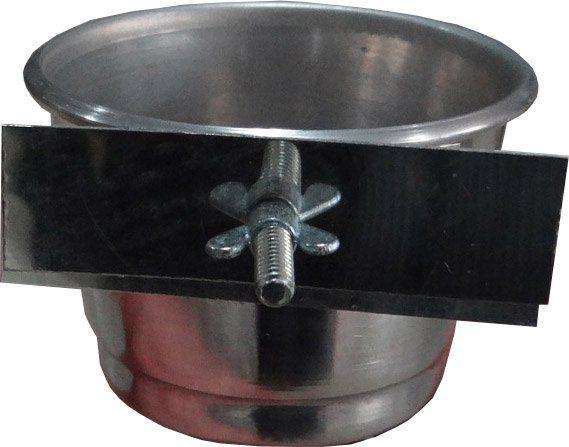 Comedouro de alumínio com parafuso - Pequeno - 3 Unidades