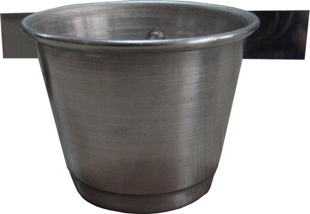 Comedouro de alumínio com aba - médio - 3 Unidades