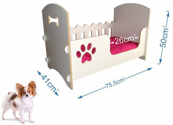 Berço cama de luxo para cães de porte médio - Rosa