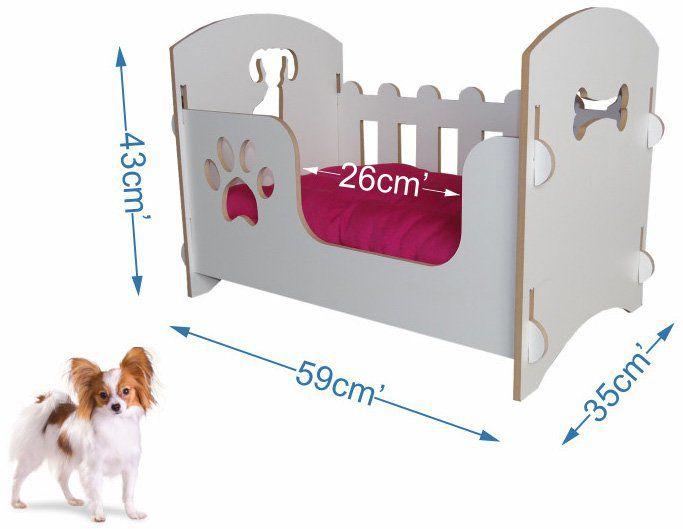 Berço de luxo para Cães e Gatos - Rosa