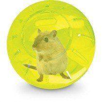 Bola de Exercícios para Hamster 17,8cm - Amarela  - Chocmaster a melhor chocadeira do Brasil