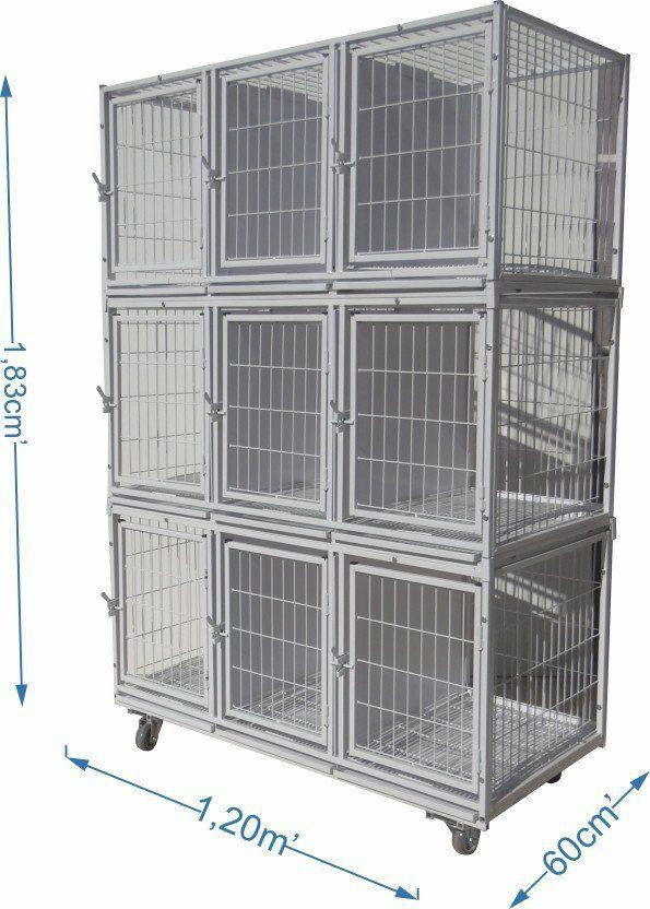 Gaiola canil cães e gatos 9 Lugares modular - Branca