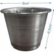 Comedouro de alumínio com parafuso - médio - Kit com 3 peças