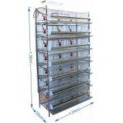 Bateria de 7 gaiolas para codorna - Copinho