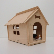 Casa para cães de pequeno porte madeira - BINGO ChocMaster