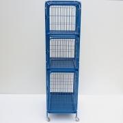 Gaiola canil Cães E Gatos 3 lugares - Azul