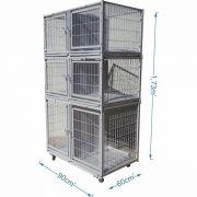 Gaiola canil Cães E Gatos 6 lugares modular- Branco