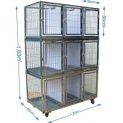 Gaiola canil cães e gatos - 9 Lugares modular