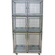 Gaiola canil cães e gatos - 6 lugares modular Prata