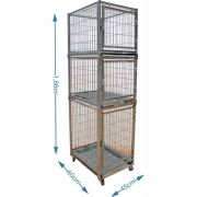 Gaiola canil cães e gatos - 3 lugares modular