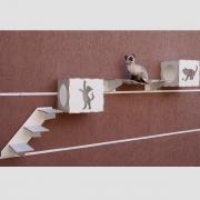 Playground  para gatos kit com 4 peças escada toca ponte
