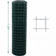 Tela Revestida tipo Alambrado 5x5 malha 1,6/2,0mm 1,0 metro de altura - 25M de comprimento