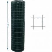 Tela Revestida tipo Alambrado 5x5 malha 1,6/2,0mm 1,2 metro de altura - 25M de comprimento