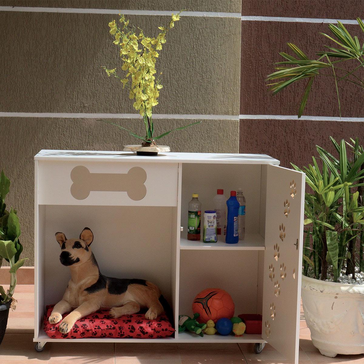 Armário multiuso casa cama para pet cachorro cães -THOR