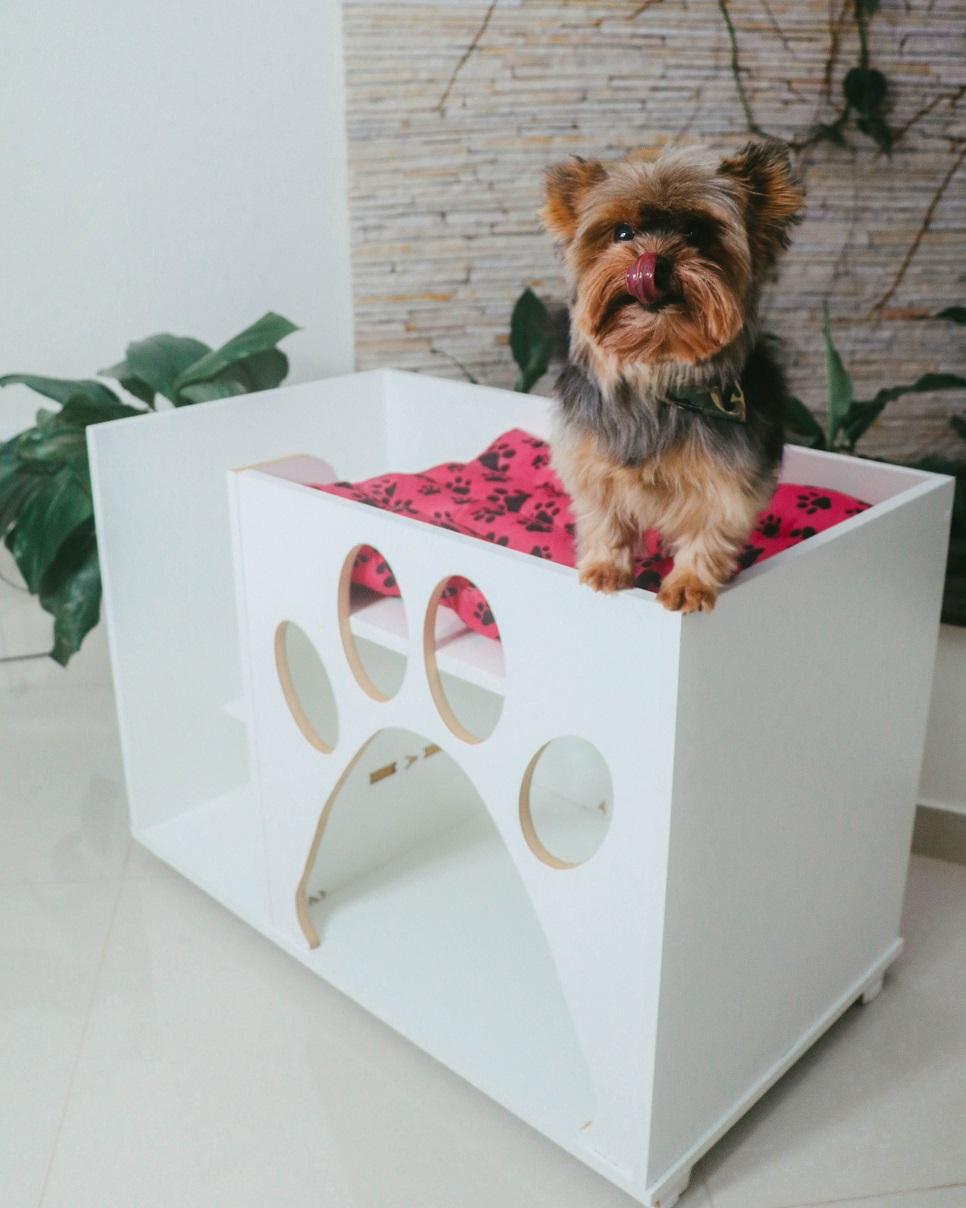 Casa cama cachorro gato Pets com escada-TEDY