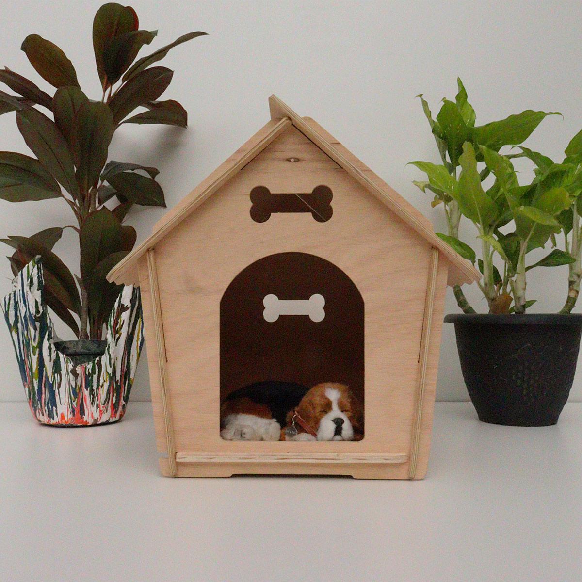 Casa para cachorro cães de pequeno porte madeira - BINGO