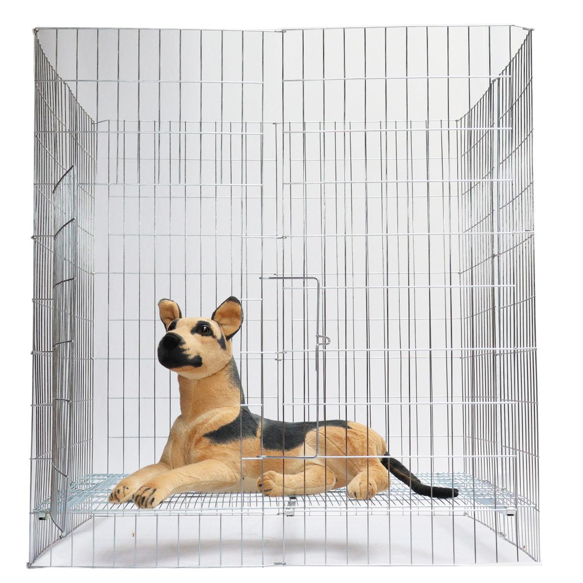 Cercado Médio canil cachorro cães pet com piso e porta