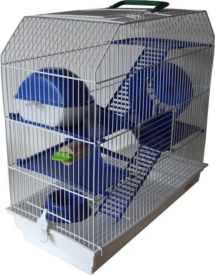 Combo Gaiola para Hamster 4 Andares  + Kit com 5 Bebedouros para Hamster - Tamanho P