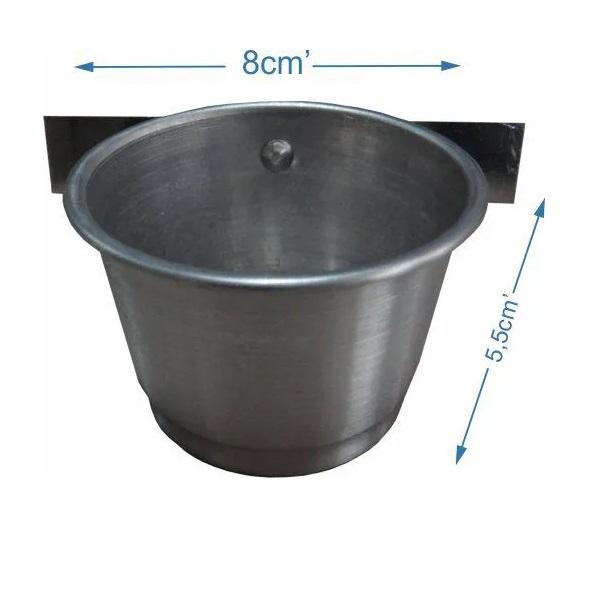 Comedouro de alumínio com aba - Pequeno - 3 Unidades
