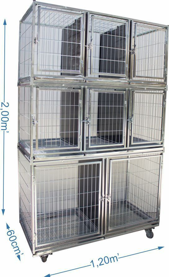 Gaiola canil cães e gatos 8 lugares modular