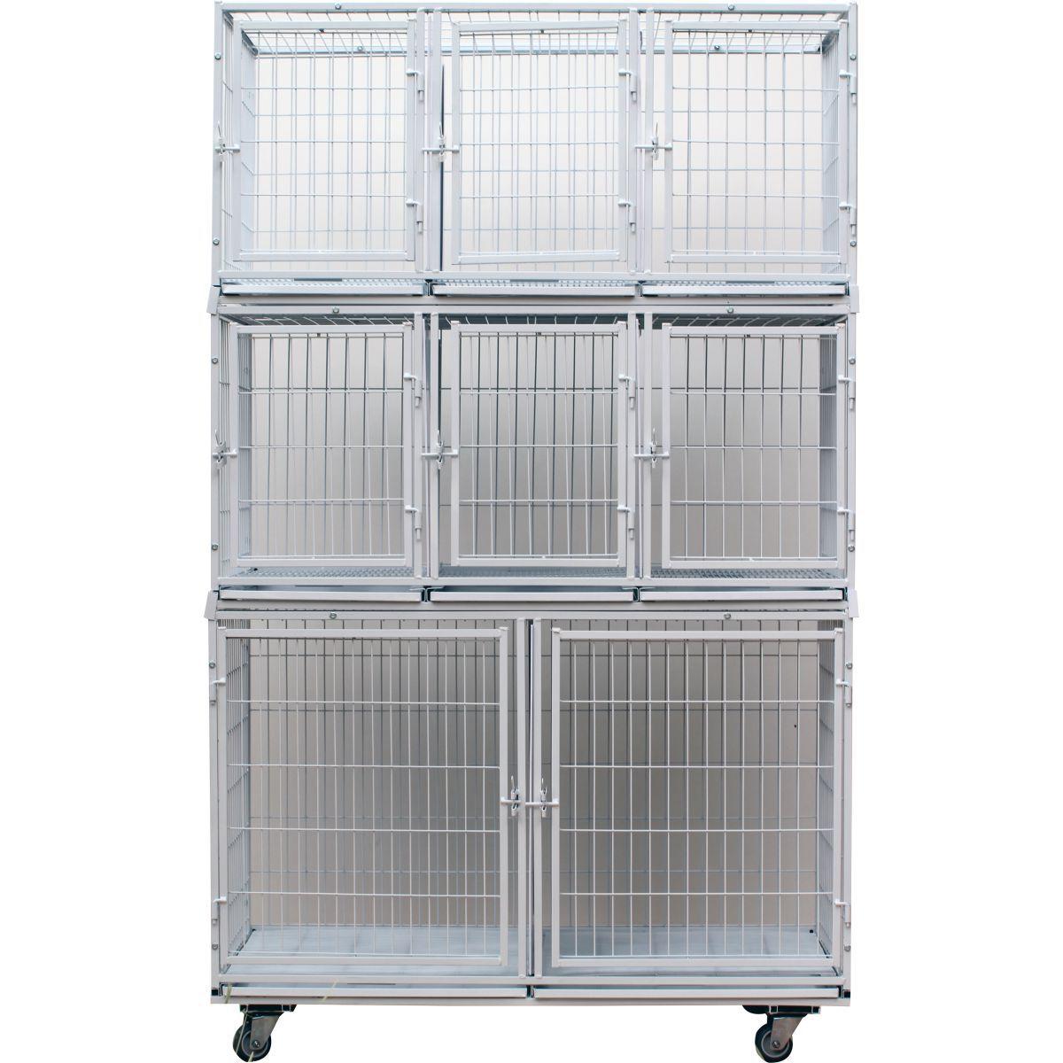 Gaiola canil cães e gatos - 8 lugares modular Branca