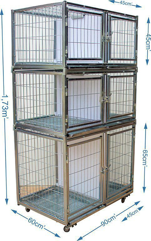 Gaiola canil cães e gatos - 6 lugares modular