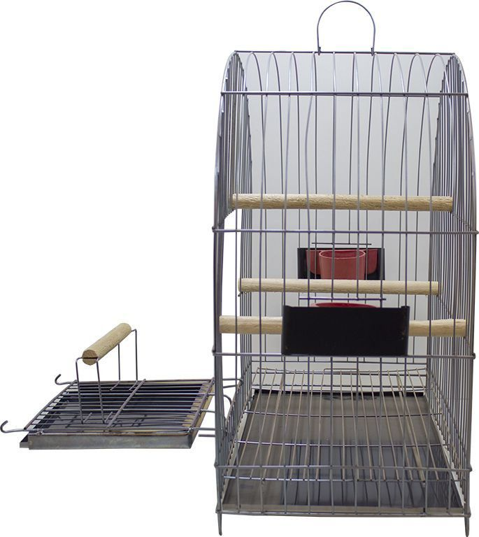 Gaiola para Calopsita Duplex - Prata