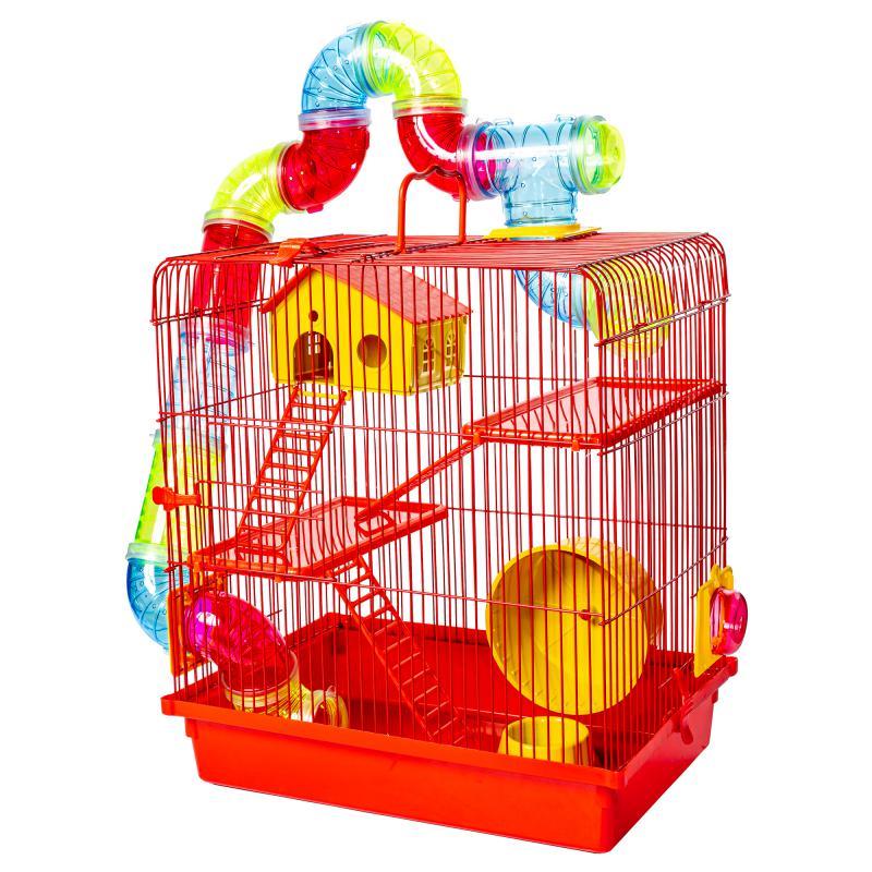 Gaiola para Hamster 3 Andares Tubo Luxo