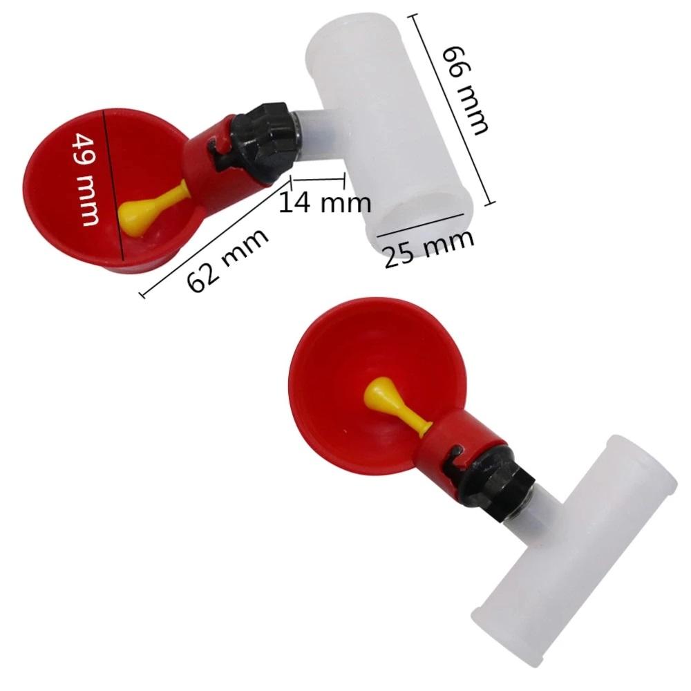 Kit 10 Bebedouro Automático copinho P/aves Frango c/ Conexão T 20mm