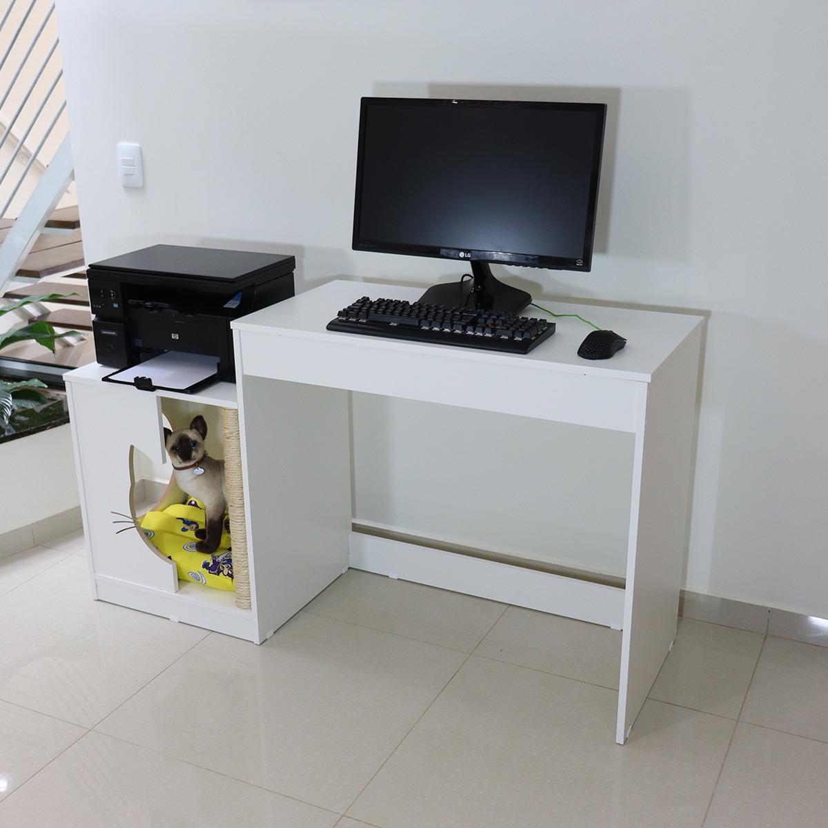Mesa escrivaninha computador cama pet arranhador nicho gato toca Mufasa