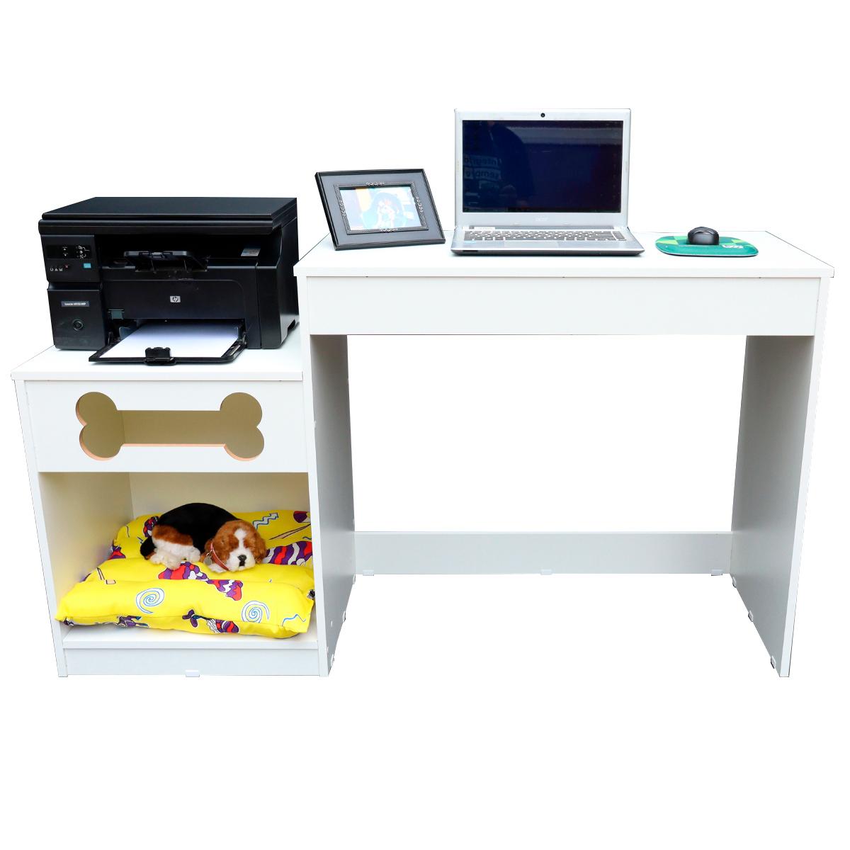 Mesa Home Office computador mesa  Estudo Escrivaninha com cama pet -Duke