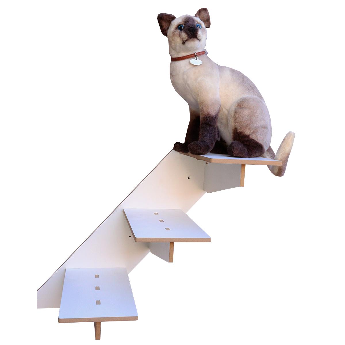 Playgroud  para gatos kit com 4 peças escada toca ponte