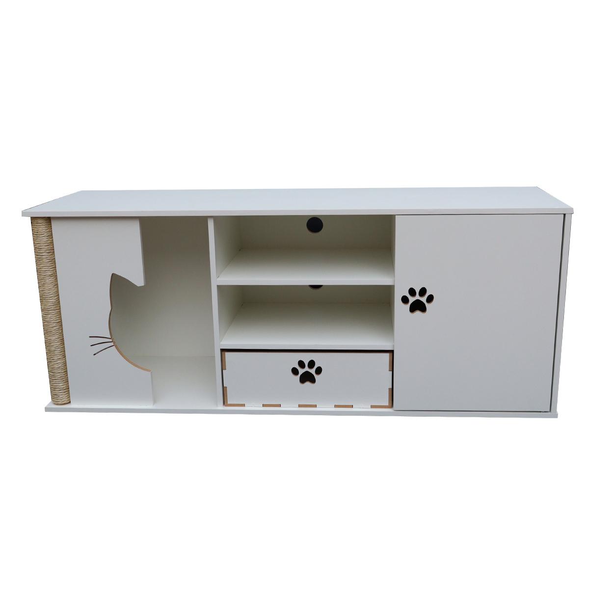 Rack para Tv Pet cama casa gato arranhador nicho - Garfield